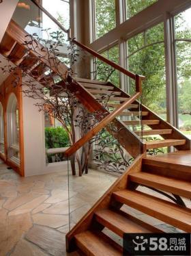 室内别墅楼梯设计效果图