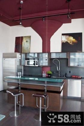 两房一厅打造欧式简约厨房装修效果图大全2014图片