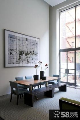 现代简约风格房屋餐厅背景墙装修效果图