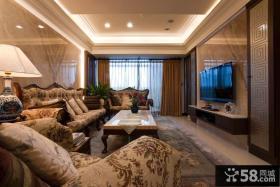 现代简约别墅室内客厅装饰效果图
