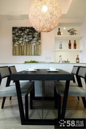 现代日式家装餐厅设计图片