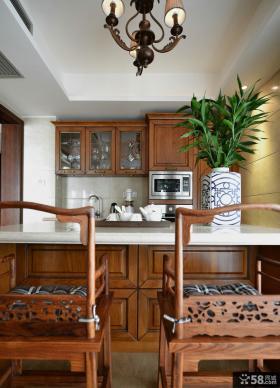 中式厨房台面装修效果图