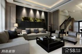 现代简约风格复式楼客厅装修效果图欣赏