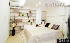 卧室墙面置物架效果图片