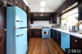 U型厨房实木橱柜效果图图片