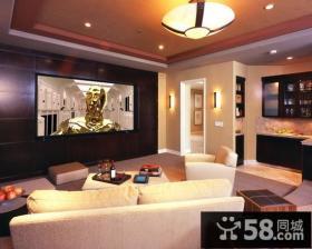 三居室现代风格客厅吊顶装修效果图