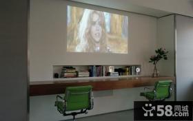 美式现代客厅电视背景墙装修效果图大全2014
