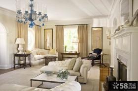 欧式别墅客厅吊灯图片