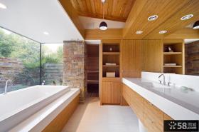 美式风格别墅图片大全 乡村别墅卫生间图片大全