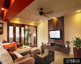 现代客厅电视背景墙效果图大全图