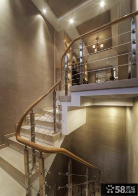 现代复式室内楼梯装饰效果图