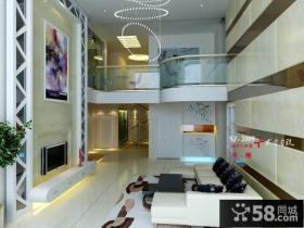 现代别墅客厅电视背景墙装修效果大全2013图片