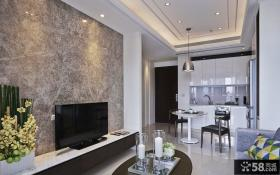 公寓客厅电视背景墙装修图