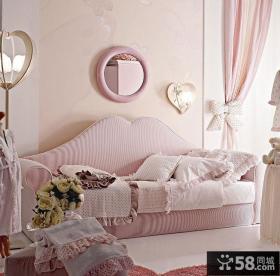 粉色公主儿童卧室图片 儿童房装修效果图大全2012图片