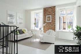 复式楼客厅装修效果图大全2014图片