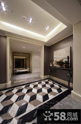 现代风格别墅入户玄关装修设计
