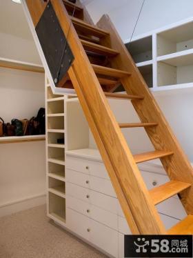 实木阁楼楼梯装修图片