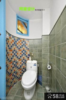 地中海风格超小卫生间瓷砖设计