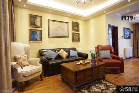 美式客厅沙发背景墙装饰画