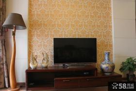 美式风格电视背景墙壁纸