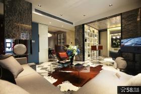 后现代风格三居客厅装修效果图大全2014图片