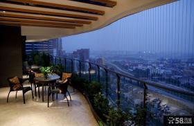 现代简约设计室内阳台装饰效果图片