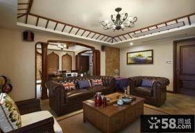 美式乡村设计客厅效果图大全