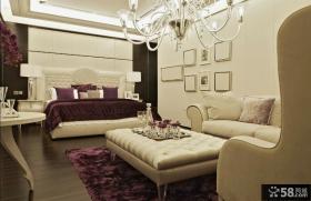 现代风格样板房卧室装修效果图