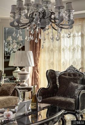 古典欧式客厅灯具装修图片