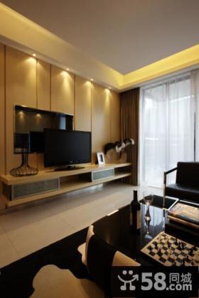 现代装修客厅电视背景墙风格设计