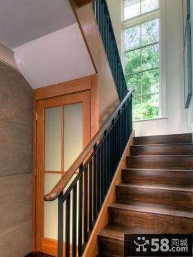 美式别墅室内楼梯设计图
