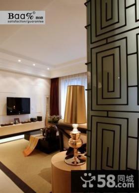 简约客厅瓷砖电视背景墙装修设计