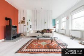 现代简约风格客厅沙发地毯效果图