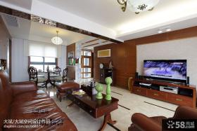 中式风格家装实木电视背景墙