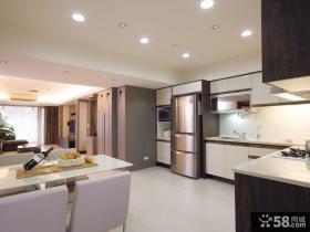 现代简约风格厨房餐厅室内效果图