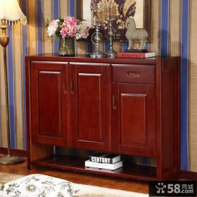 红木家具鞋柜