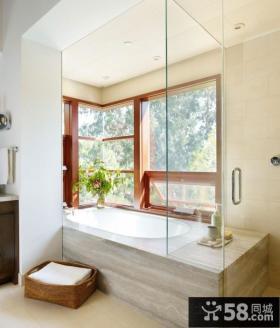 现代小清新的美式风格装修卫生间图片