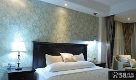 卧室床头欧式壁纸装修效果图片