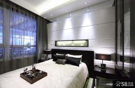 2013现代风格时尚家居主卧室床头背景墙装修效果图