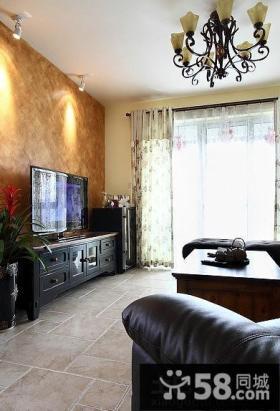 2014美式精装修客厅电视背景墙图片