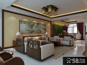 中式风格客厅隔断装修效果图大全2012图片