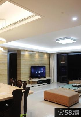 现代风格客厅瓷砖电视背景墙设计效果图