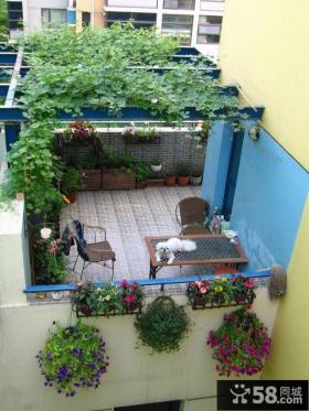 露天小阳台花园