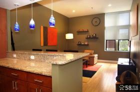 2012优质开放式厨房装修效果图吧台
