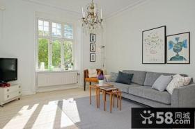 60平米小户型装修效果图 素雅清新的客厅