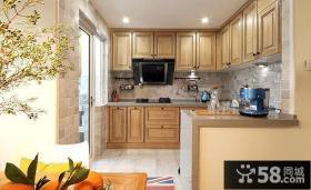 美式家居隔断式实木厨房设计效果图