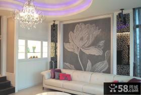 简欧设计沙发背景墙欣赏