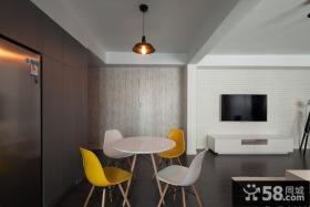 现代简约风格客厅与餐厅吊顶设计