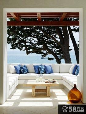 家庭装修设计阳台效果图大全2014