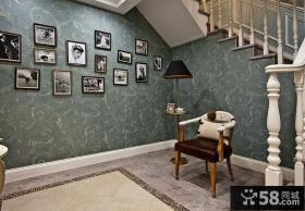古典风格楼梯间相片墙图片